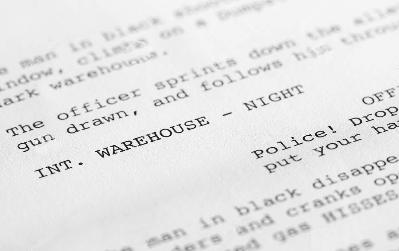 Close up on screenplay. Image for Find Film Crew