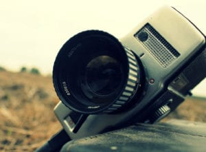 A film camera used for a documentary
